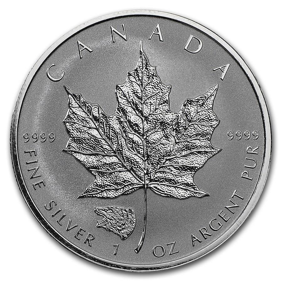 2016 Canada 1 oz Silver Maple Leaf Grizzly Privy