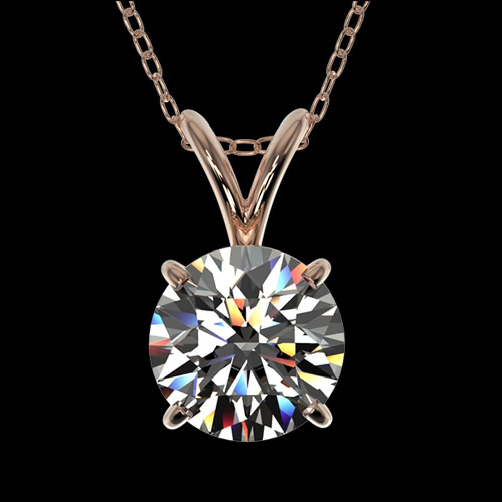 1.05 ctw Certified Quality Diamond Necklace 10k Rose