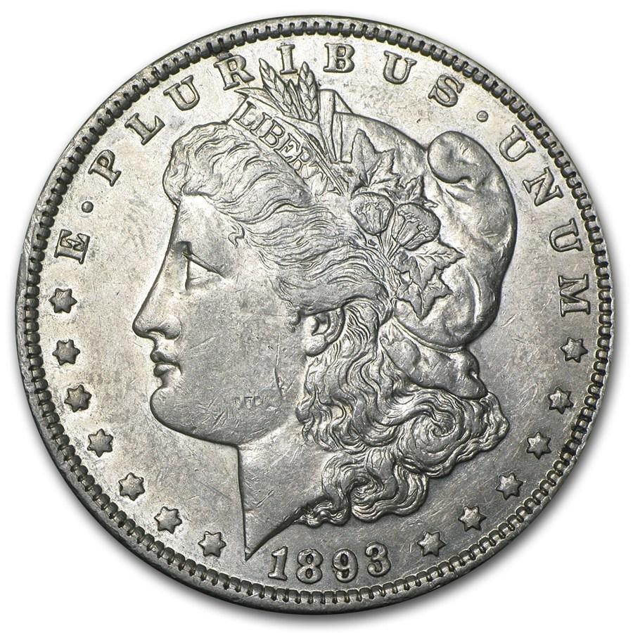 1893 Morgan Dollar AU