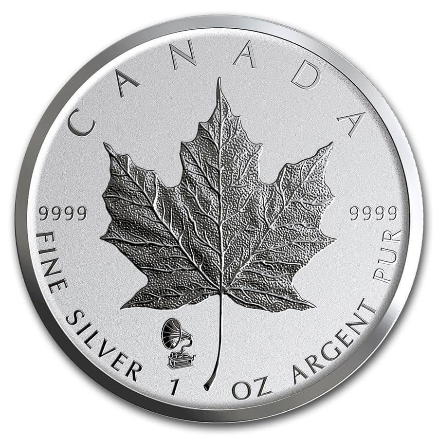 2019 Canada 1 oz Silver Maple Leaf Edison Phonograph