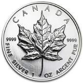 1998 Canada 1 oz Silver Maple Leaf BU