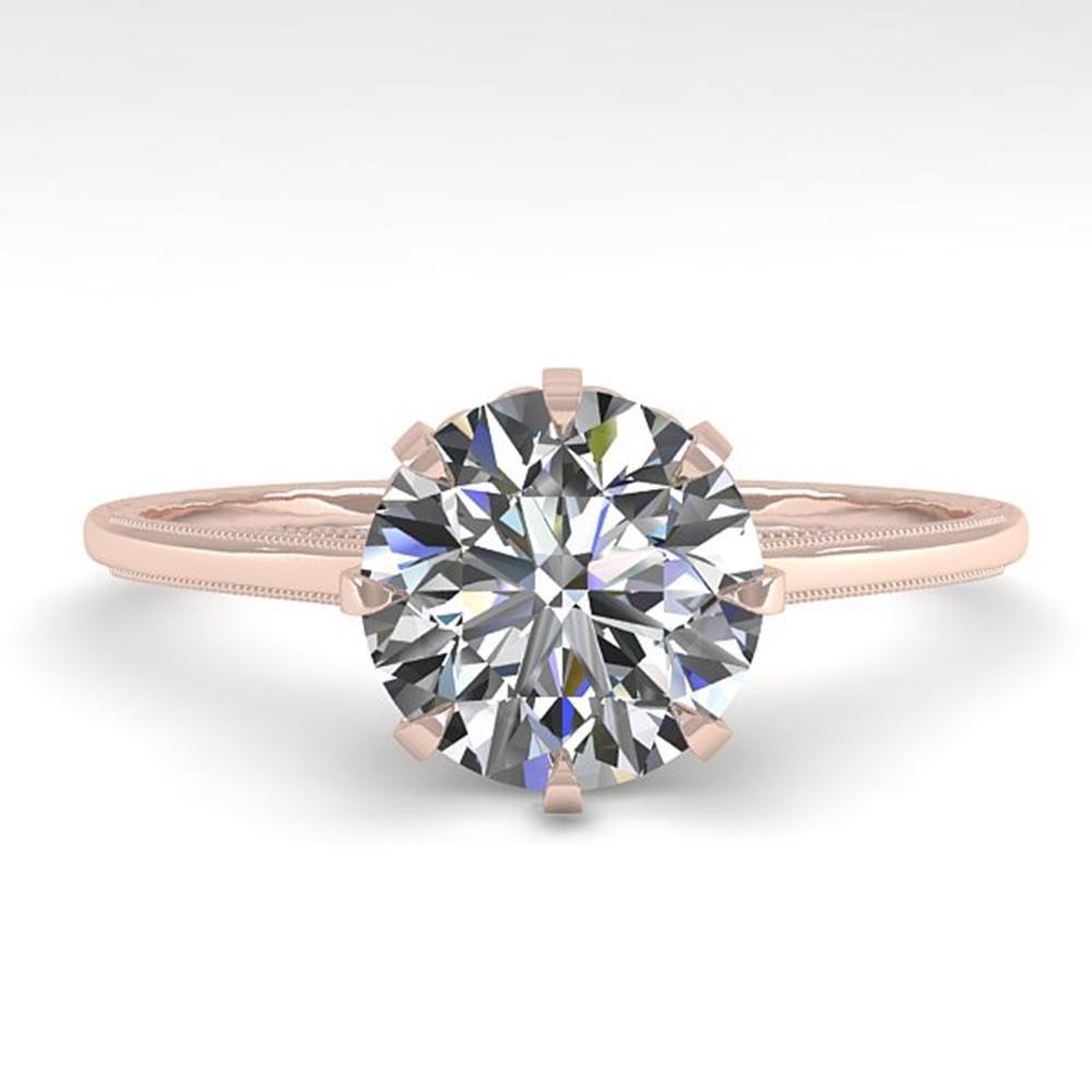 1.50 ctw Certified VS/SI Diamond Ring Vintage 14k Rose