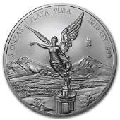 2013 Mexico 5 oz Silver Libertad BU