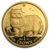 Isle of Man 1 oz Gold Cat BUProof Random