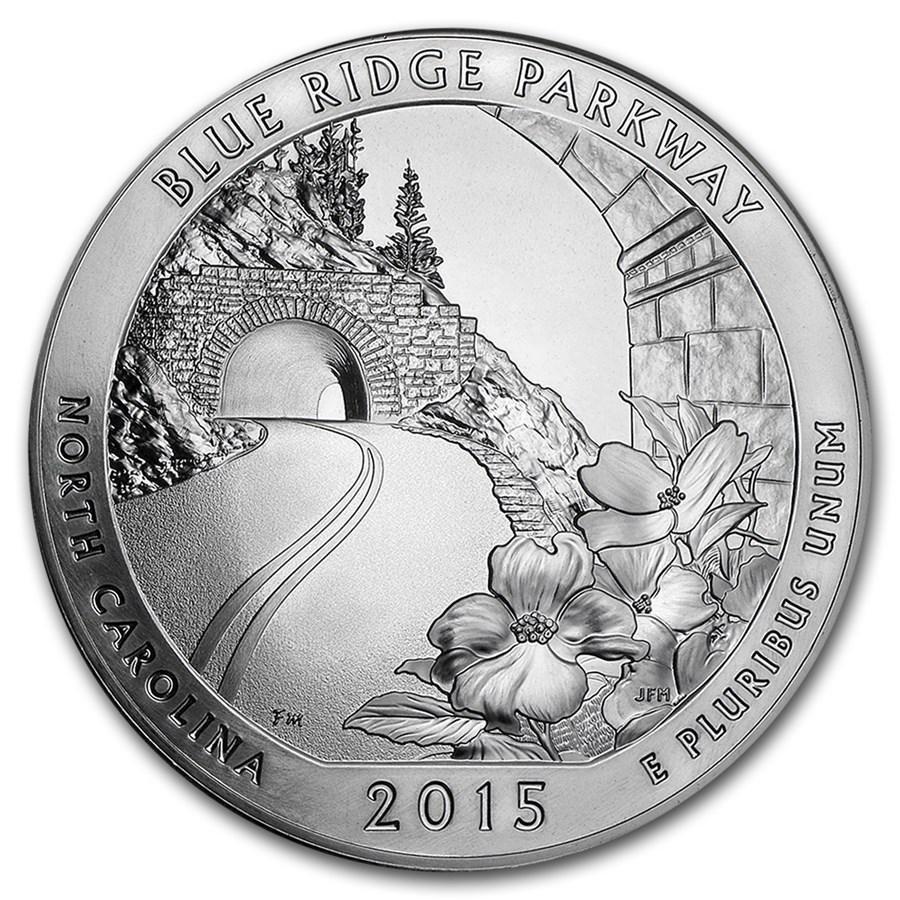2015 5 oz Silver ATB Blue Ridge National Parkway, NC