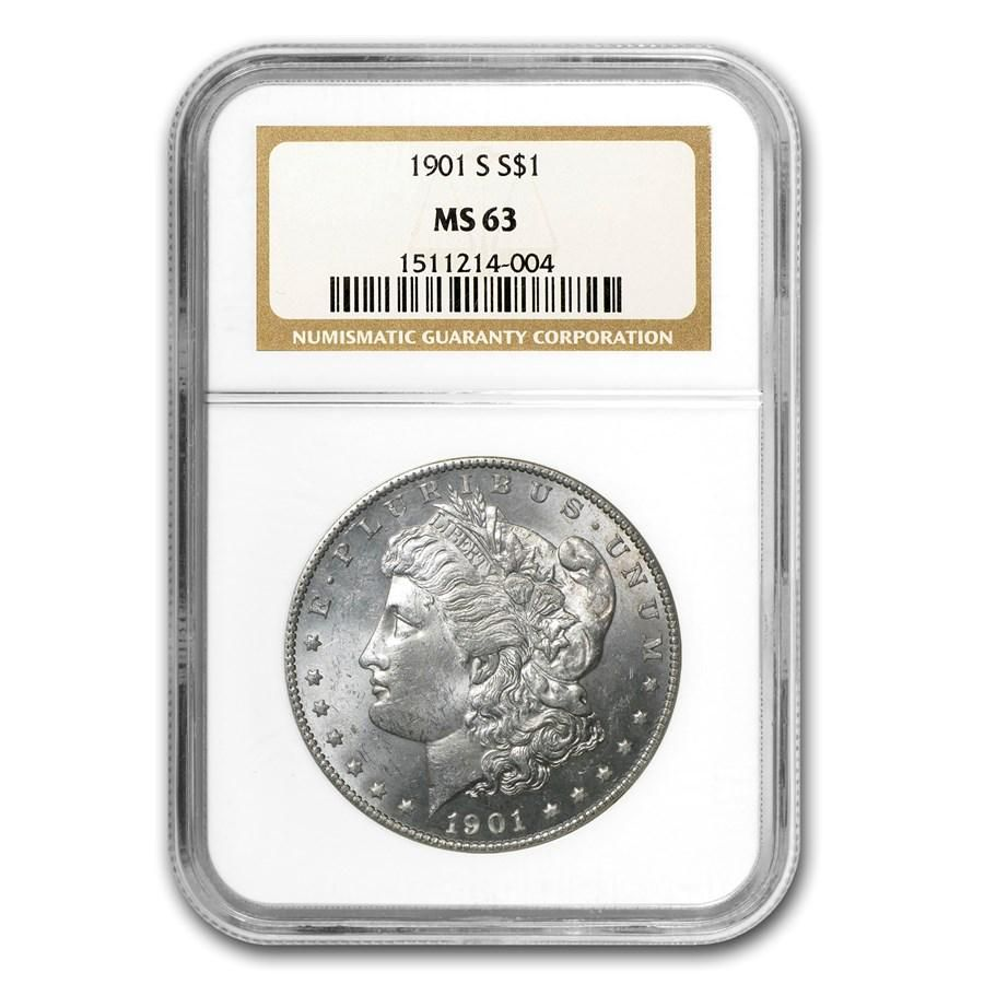 1901-S Morgan Dollar MS-63 NGC