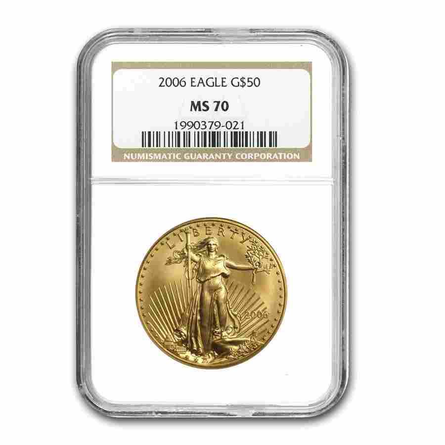 2006 1 oz Gold American Eagle MS-70 NGC