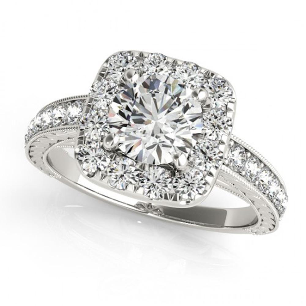 Natural 1.36 ctw Diamond Halo Ring 14k White Gold