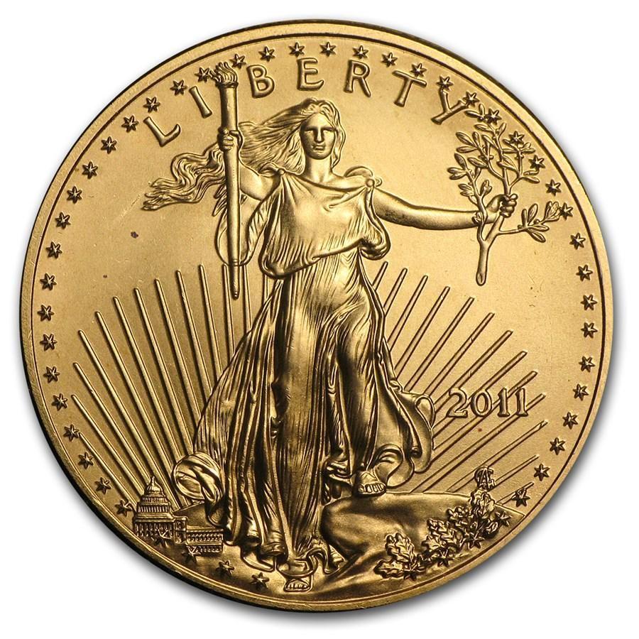 2011 1/2 oz Gold American Eagle BU