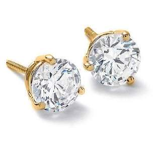 Natural 0.82 CTW Round Brilliant Cut Diamond Stud