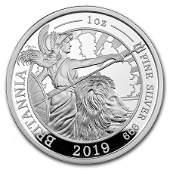 2019 Great Britain 1 oz Proof Silver Britannia