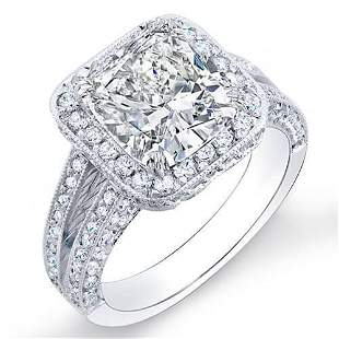 Natural 2.12 CTW Halo Cushion Cut Pave Diamond