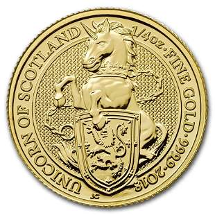 2018 Great Britain 1/4 oz Gold Queen's Beasts The