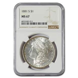 1881-S Morgan Dollar MS-67 NGC