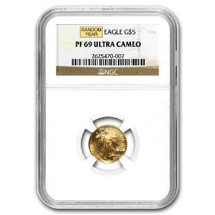 1/10 oz Proof Gold American Eagle PF-69 NGC (Random