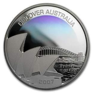 2007 Australia 1 oz Silver Sydney Proof
