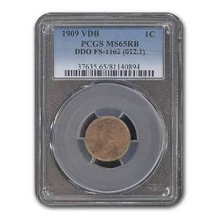 1909 VDB Lincoln Cent MS-65 PCGS (RB, DDO, FS-1102)