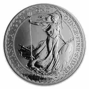 1998 Great Britain 1 oz Silver Britannia BU
