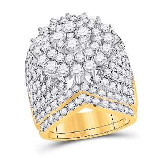 14kt Yellow Gold Round Diamond Bridal Wedding Ring Band