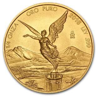 2016 Mexico 1/4 oz Gold Libertad BU