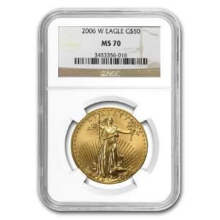 2006-W 1 oz Burnished Gold Eagle MS-70 NGC (Various