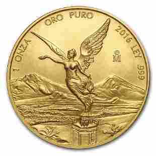 2016 Mexico 1 oz Gold Libertad BU