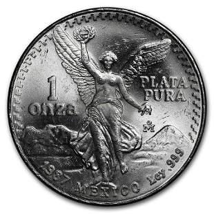 1987 Mexico 1 oz Silver Libertad BU
