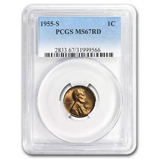 1955-S Lincoln Cent MS-67 PCGS (Red)