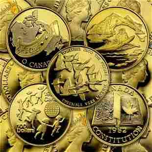 1977-1986 Canada 1/2 oz Proof Gold $100 (Random Year)