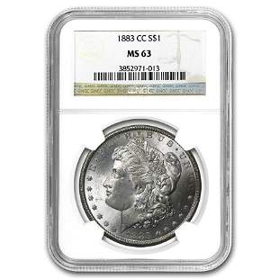 1883-CC Morgan Dollar MS-63 NGC