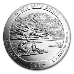 2014 5 oz Silver ATB Great Sand Dunes National Park, CO