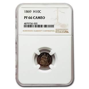 1869 Liberty Seated Half Dime PF-66 Cameo NGC