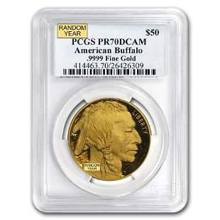 1 oz Proof Gold Buffalo PR-70 PCGS (Random Year)