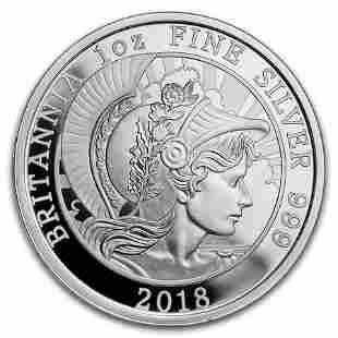 2018 Great Britain 1 oz Proof Silver Britannia (Coin