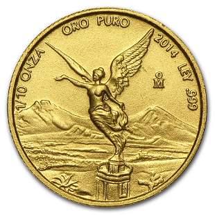 2014 Mexico 1/10 oz Gold Libertad BU