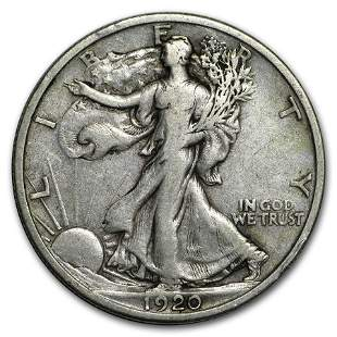 1920-D Walking Liberty Half Dollar VF