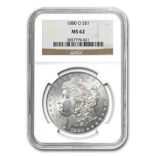 1880-O Morgan Dollar MS-62 NGC