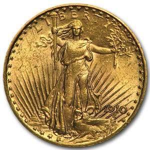 1910 $20 Saint-Gaudens Gold Double Eagle AU