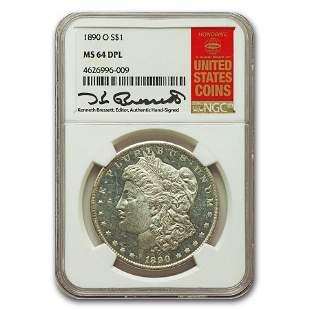 1890-O Morgan Dollar MS-64 NGC (DPL)