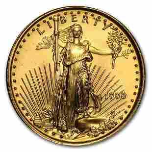 1998 1/10 oz Gold American Eagle BU