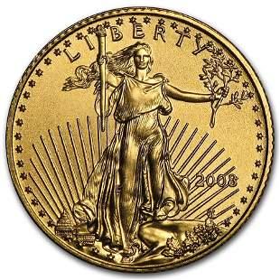 2008 1/10 oz Gold American Eagle BU