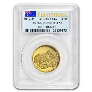 2012-P Australia 1 oz Gold Koala PR-70 PCGS (FS, High