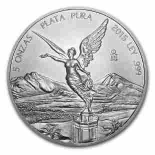 2015 Mexico 5 oz Silver Libertad BU