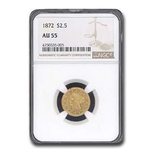 1872 $2.50 Liberty Gold Quarter Eagle AU-55 NGC