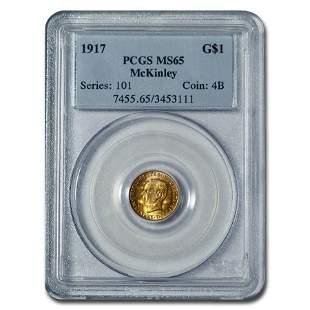 1917 Gold $1.00 McKinley MS-65 PCGS