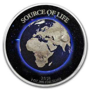 2018 Benin 1 oz Silver 1,000 Francs Source of Life: the