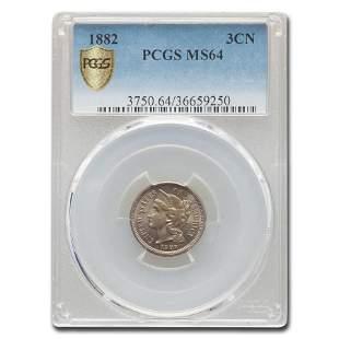 1882 Three Cent Nickel MS-64 PCGS