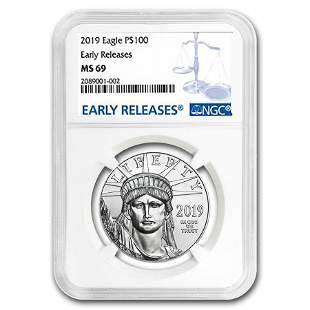 2019 1 oz Platinum American Eagle MS-69 NGC (Early