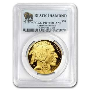 2011-W 1 oz Proof Gold Buffalo PR-70 PCGS (Black