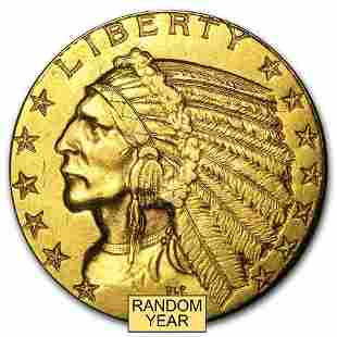 $5 Indian Gold Half Eagle (Cleaned)